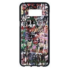 Graffiti Wall Pattern Background Samsung Galaxy S8 Plus Black Seamless Case