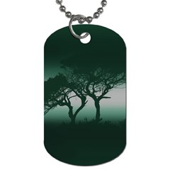 Sunset Dog Tag (one Side) by Valentinaart
