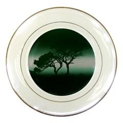 Sunset Porcelain Plates by Valentinaart