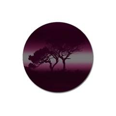 Sunset Magnet 3  (round) by Valentinaart