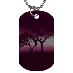 Sunset Dog Tag (two Sides) by Valentinaart
