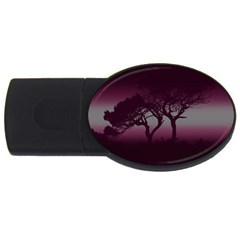 Sunset Usb Flash Drive Oval (2 Gb) by Valentinaart