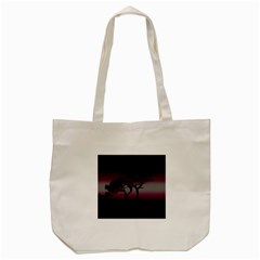 Sunset Tote Bag (cream) by Valentinaart
