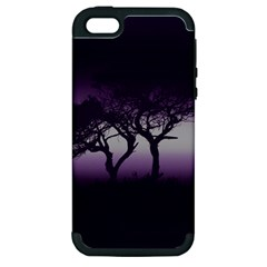 Sunset Apple Iphone 5 Hardshell Case (pc+silicone) by Valentinaart