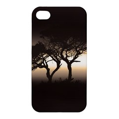 Sunset Apple Iphone 4/4s Premium Hardshell Case by Valentinaart