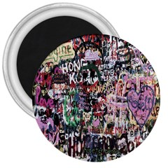 Graffiti Wall Pattern Background 3  Magnets by Nexatart