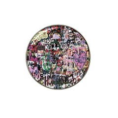 Graffiti Wall Pattern Background Hat Clip Ball Marker (4 Pack) by Nexatart