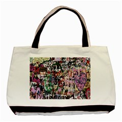 Graffiti Wall Pattern Background Basic Tote Bag (two Sides)
