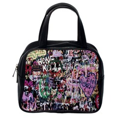 Graffiti Wall Pattern Background Classic Handbags (one Side)