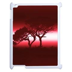 Sunset Apple Ipad 2 Case (white) by Valentinaart