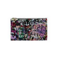 Graffiti Wall Pattern Background Cosmetic Bag (small)  by Nexatart
