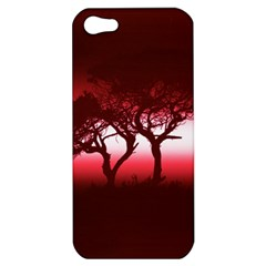 Sunset Apple Iphone 5 Hardshell Case by Valentinaart