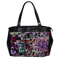 Graffiti Wall Pattern Background Office Handbags by Nexatart
