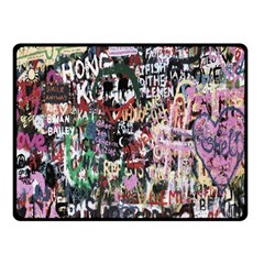 Graffiti Wall Pattern Background Fleece Blanket (small) by Nexatart