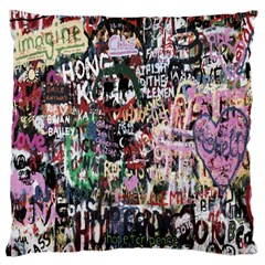 Graffiti Wall Pattern Background Large Cushion Case (one Side) by Nexatart