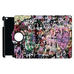 Graffiti Wall Pattern Background Apple Ipad 3/4 Flip 360 Case by Nexatart