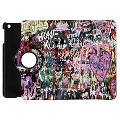 Graffiti Wall Pattern Background Apple Ipad Mini Flip 360 Case by Nexatart