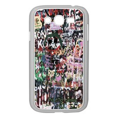 Graffiti Wall Pattern Background Samsung Galaxy Grand Duos I9082 Case (white) by Nexatart