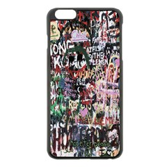Graffiti Wall Pattern Background Apple Iphone 6 Plus/6s Plus Black Enamel Case by Nexatart