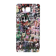 Graffiti Wall Pattern Background Samsung Galaxy Alpha Hardshell Back Case by Nexatart