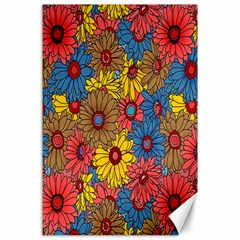 Background With Multi Color Floral Pattern Canvas 24  X 36