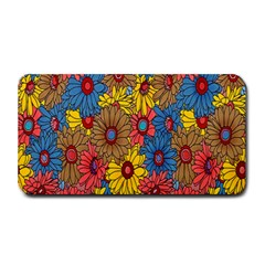 Background With Multi Color Floral Pattern Medium Bar Mats
