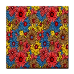 Background With Multi Color Floral Pattern Face Towel by Nexatart
