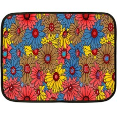 Background With Multi Color Floral Pattern Double Sided Fleece Blanket (mini)  by Nexatart