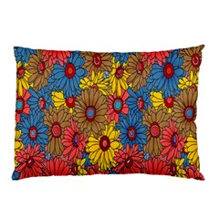 Background With Multi Color Floral Pattern Pillow Case (two Sides) by Nexatart