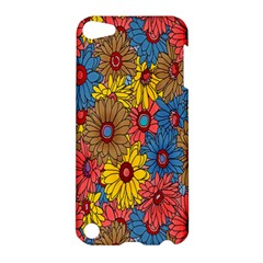 Background With Multi Color Floral Pattern Apple Ipod Touch 5 Hardshell Case