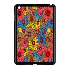 Background With Multi Color Floral Pattern Apple Ipad Mini Case (black)