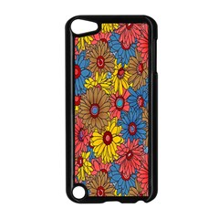 Background With Multi Color Floral Pattern Apple Ipod Touch 5 Case (black) by Nexatart