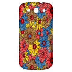 Background With Multi Color Floral Pattern Samsung Galaxy S3 S Iii Classic Hardshell Back Case by Nexatart