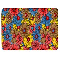 Background With Multi Color Floral Pattern Samsung Galaxy Tab 7  P1000 Flip Case