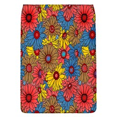 Background With Multi Color Floral Pattern Flap Covers (l)  by Nexatart