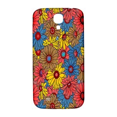 Background With Multi Color Floral Pattern Samsung Galaxy S4 I9500/i9505  Hardshell Back Case by Nexatart