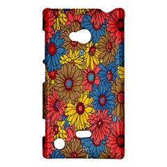 Background With Multi Color Floral Pattern Nokia Lumia 720