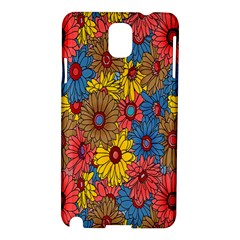 Background With Multi Color Floral Pattern Samsung Galaxy Note 3 N9005 Hardshell Case by Nexatart