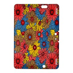 Background With Multi Color Floral Pattern Kindle Fire Hdx 8 9  Hardshell Case by Nexatart