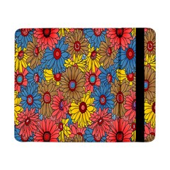 Background With Multi Color Floral Pattern Samsung Galaxy Tab Pro 8 4  Flip Case