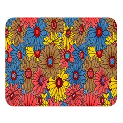 Background With Multi Color Floral Pattern Double Sided Flano Blanket (large)