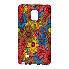 Background With Multi Color Floral Pattern Galaxy Note Edge by Nexatart