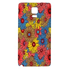 Background With Multi Color Floral Pattern Galaxy Note 4 Back Case