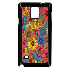 Background With Multi Color Floral Pattern Samsung Galaxy Note 4 Case (black)