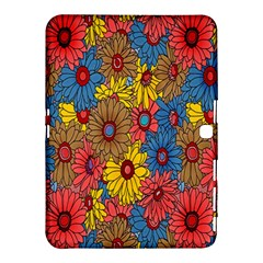 Background With Multi Color Floral Pattern Samsung Galaxy Tab 4 (10 1 ) Hardshell Case
