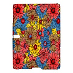 Background With Multi Color Floral Pattern Samsung Galaxy Tab S (10 5 ) Hardshell Case  by Nexatart