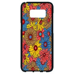 Background With Multi Color Floral Pattern Samsung Galaxy S8 Black Seamless Case