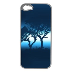 Sunset Apple Iphone 5 Case (silver) by Valentinaart