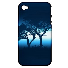 Sunset Apple Iphone 4/4s Hardshell Case (pc+silicone) by Valentinaart