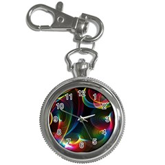 Abstract Rainbow Twirls Key Chain Watches by Nexatart